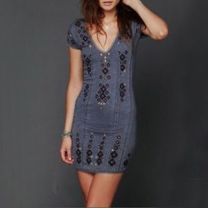 Free People Rich In Embroidery Mini Dress